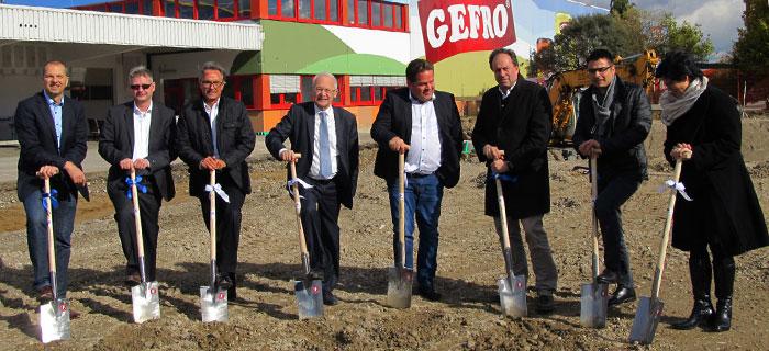 Spatenstich für neues Gero-Gebäude