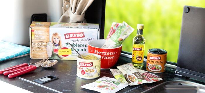 GEFRO Camper-Set für Camping-Fans die Wert auf eine gesunde Ernährung 2Go legen.